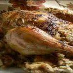 طريقة عمل دجاج محشي بالفريك في المنزل